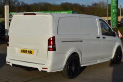 MERCEDES VITO 111 SPORT WIDE ARCH KIT STYLE WHITE VAN TAIL GATE LOW MILES VAN RARE - 2180 - 5