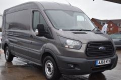 FORD TRANSIT 350 L3 H2 LUNAR SKY GREY LWB EURO 6 SIDE WINDOW VAN IDEAL CAMPER CONVERSION - 2157 - 7