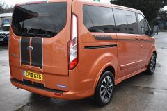 FORD TOURNEO CUSTOM 310 SPORT AUTOMATIC MINIBUS 8 SEATER ORANGE NO VAT TO PAY 170 BHP - 2110 - 6
